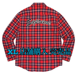 シュプリーム(Supreme)のsupreme Arc Logo Quilted Flannel Shirt(シャツ)