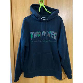 スラッシャー(THRASHER)のTHRASHER スラッシャー パーカー Lサイズ 迷彩 カモ柄(パーカー)