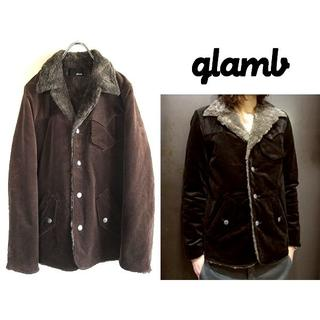 グラム(glamb)の状態良好 名作 glamb 総裏ボア コーデュロイランチコート 3(その他)