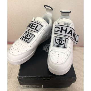 ナイキ(NIKE)のvandy the pink nike airforce1×CHANEL (スニーカー)