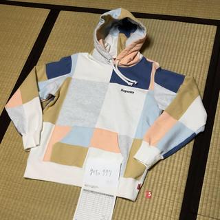 シュプリーム(Supreme)のS supreme  patchwork hooded sweatshirt(パーカー)