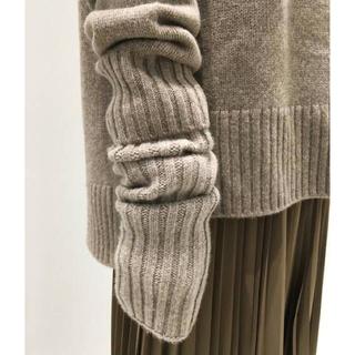 アパルトモンドゥーズィエムクラス(L'Appartement DEUXIEME CLASSE)のL'Appartement knit grove アームウォーマー ベージュ(手袋)