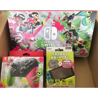 ニンテンドースイッチ(Nintendo Switch)の新品 初回盤 Nintendo Switch スプラトゥーン 2 セット (家庭用ゲーム機本体)
