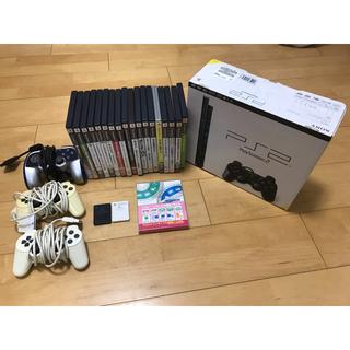 プレイステーション2(PlayStation2)のPS2 ミニ PlayStation2 ソフト18本付き ウイイレ 桃鉄(家庭用ゲーム機本体)