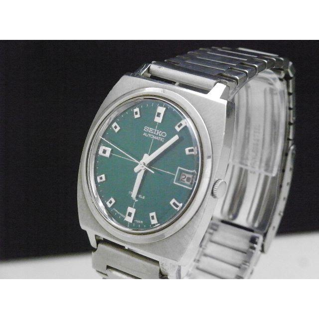 SEIKO - SEIKO 自動巻�腕時計 グリーン文字盤 デイト 17JEWELS �通販 by Arouse 's shop
