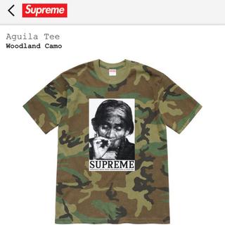 シュプリーム(Supreme)のsupreme Aguila Tee Woodland Camo Lサイズ(Tシャツ/カットソー(半袖/袖なし))
