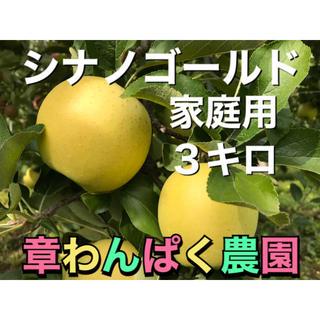 シナノゴールド  家庭用 3キロ 送料無料 長野県産 減農薬 化学肥料不使用(フルーツ)