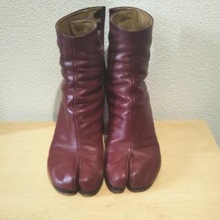 マルタンマルジェラ(Maison Martin Margiela)のマルジェラ 足袋ブーツ ワインレッド 36サイズ(ブーツ)