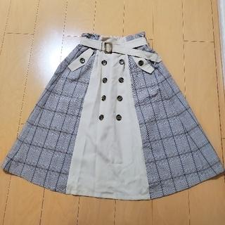 abc une face - abc une face♡サイドチェックトレンチスカート