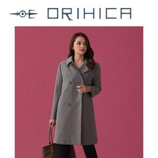 オリヒカ(ORIHICA)の今季新品M ORIHICA RHYME ウール混 TAILOREDピーコート(ピーコート)