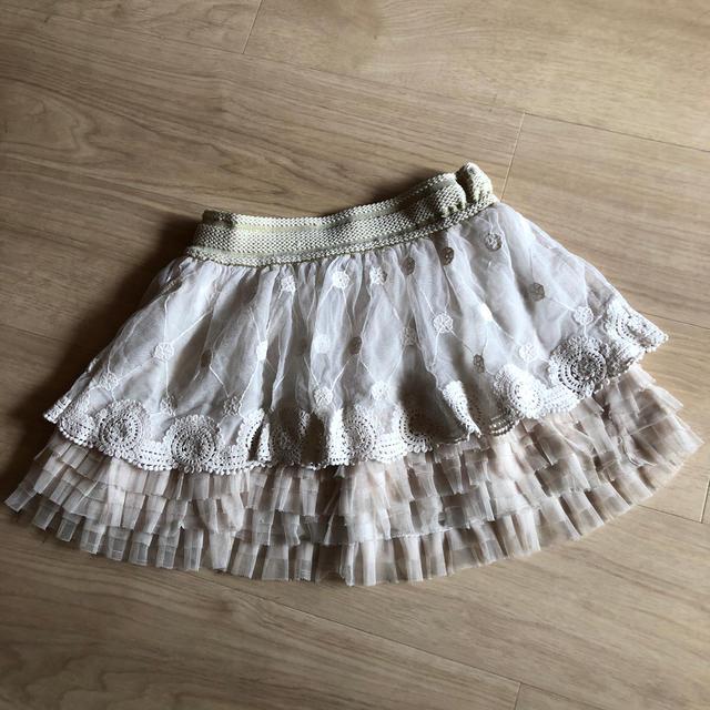 しまむら(シマムラ)のフリフリレーススカート キッズ/ベビー/マタニティのキッズ服女の子用(90cm~)(スカート)の商品写真