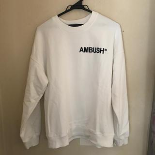 アンブッシュ(AMBUSH)のambush アンブッシュ ホワイト スウェット サイズ2(スウェット)