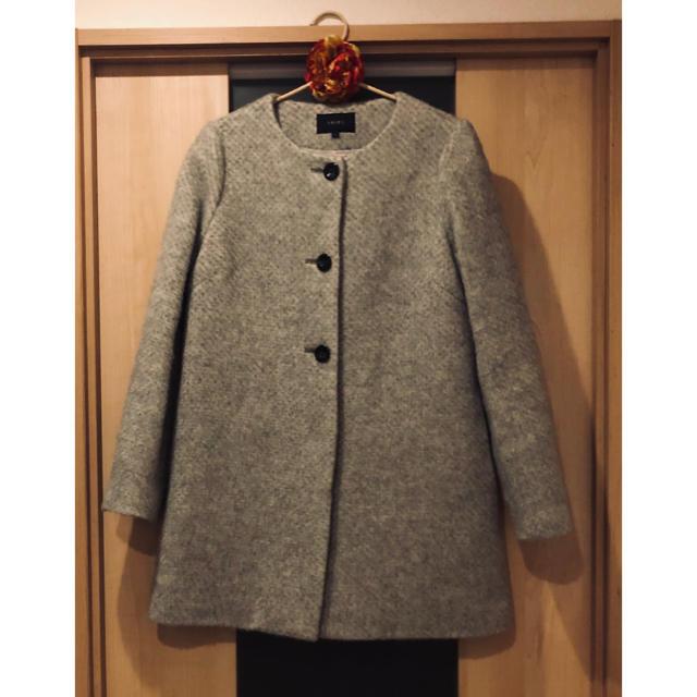 SHIPS(シップス)のSHIPS ノーカラーコート レディースのジャケット/アウター(ノーカラージャケット)の商品写真