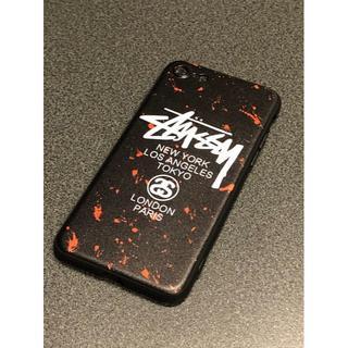 ステューシー(STUSSY)のSTUSSYステューシー レッド&ブラック iPhoneケース(iPhoneケース)