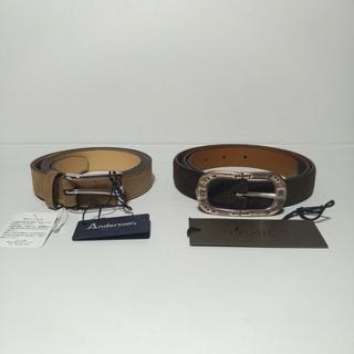 ビームス(BEAMS)の新品2本セット アンダーソンズ アンドレア・ダミコ サイズ90 サイズ95(ベルト)