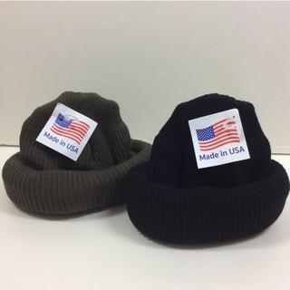 ロスコ(ROTHCO)のロスコニット帽 ブラック&オリーブ  2個 ROTHCO(ニット帽/ビーニー)