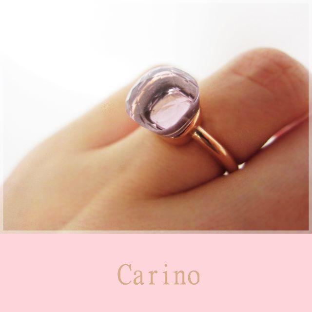 大粒 天然石 キャンディ リング 新色 ブロッサム ピンク レディースのアクセサリー(リング(指輪))の商品写真