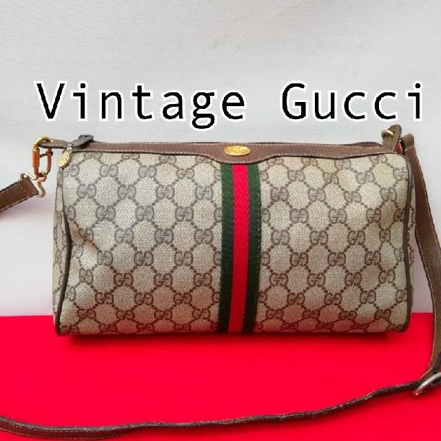 新宿 カルティエ - Gucci - 良� オールドグッ� シェリーライン ビンテージショルダー�ッグ クラッ��ッグ�通販 by vintage  shop