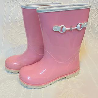 グッチ(Gucci)の⭐︎GUCCI キッズ 長靴 レインブーツ 16.5㎝ ピンク(長靴/レインシューズ)