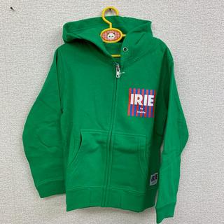 アイリーライフ(IRIE LIFE)の◆新品未使用◆irie life子供用ジップアップパーカー 緑 110サイズ(Tシャツ/カットソー)