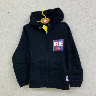 アイリーライフ(IRIE LIFE)の◆新品未使用◆irie life 子供用ジップアップパーカー 黒 110サイズ(Tシャツ/カットソー)