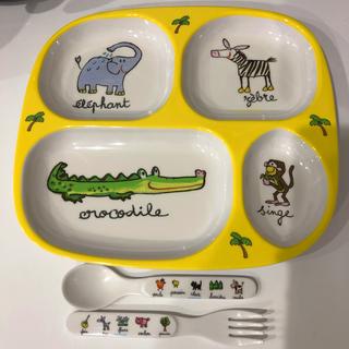 ラシェーズロング(La Chaise Longue)のラシェーズロング ランチプレート ベビー食器 スプーンフォーク付き(離乳食器セット)