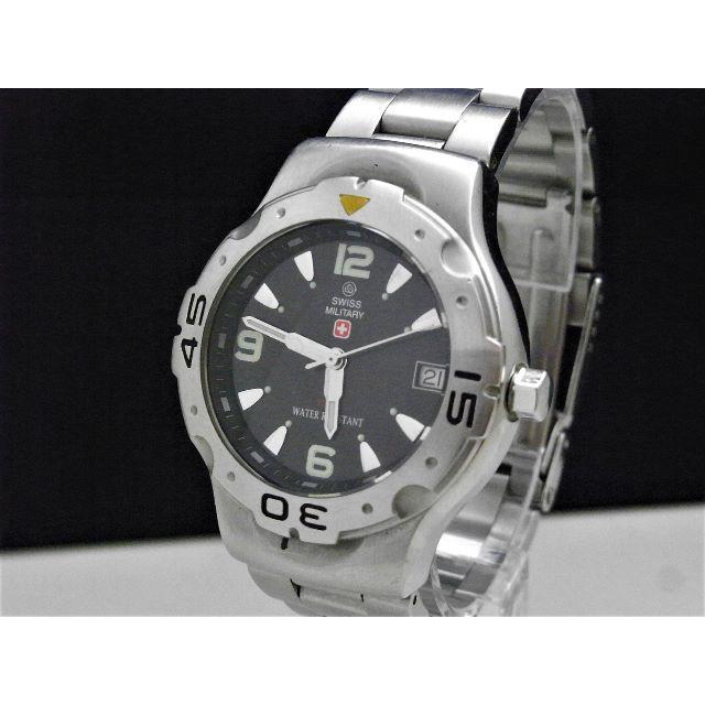 腕時計 スーパーコピー n級品 、 SWISS MILITARY ダイバーウォッチ デイト 100m 蛍光針の通販 by Arouse 's shop