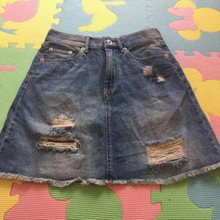 ウィゴー(WEGO)のWEGO デニム ダメージ スカート(ミニスカート)
