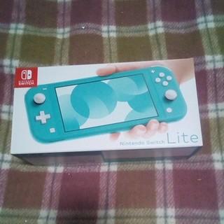 ニンテンドースイッチ(Nintendo Switch)のニンテンドースイッチライト ターコイズカラー 未使用/保証書あり(携帯用ゲーム機本体)