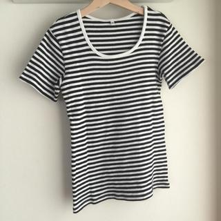 ムジルシリョウヒン(MUJI (無印良品))の無印 ボーダーカットソー(Tシャツ(半袖/袖なし))