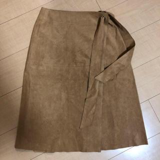 ロペ(ROPE)のロペ スウェードスカート(ひざ丈スカート)