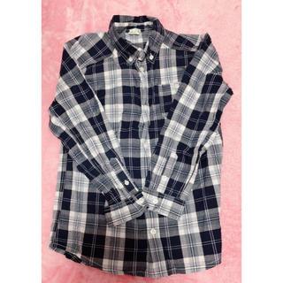 長袖シャツ ネイビーチェック(Tシャツ/カットソー)