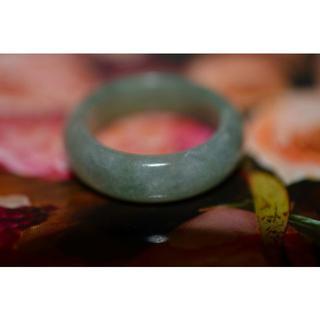 154-16 14.5号 天然 A貨 翡翠リング  硬玉ジェダイト(リング(指輪))
