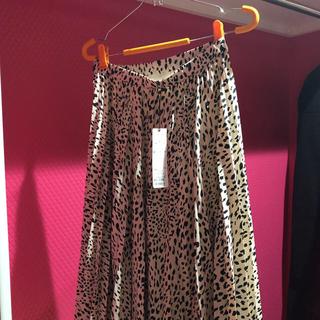 ココディール(COCO DEAL)のココディール 新作 膝丈 スカート  レオパード 新品タグ付き(ひざ丈スカート)