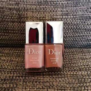 ディオール(Dior)のディオール ヴェルニ 253(ドーフィネピンク) 428(シエナ)(ネイル用品)