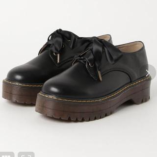 ダブルクローゼット(w closet)のwcloset 厚底レースアップシューズ ブラック M(ローファー/革靴)
