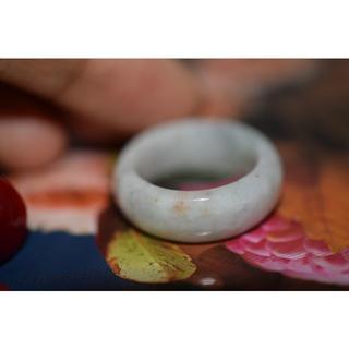 154-18 広幅 15.0号 天然 A貨 翡翠リング  硬玉ジェダイト(リング(指輪))