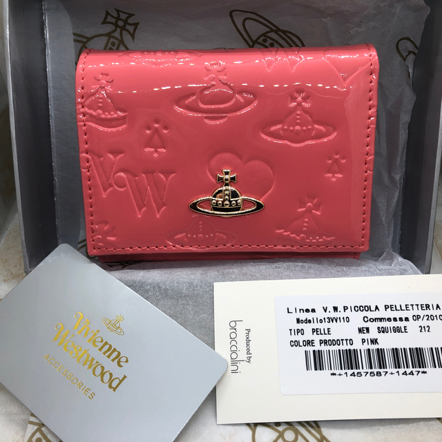 d&g 時計 スーパーコピー 口コミ | Vivienne Westwood - Vivienne Westwood ミニ 財布 エナメル ピンク 新品未使用の通販 by ぷーちゃん's shop