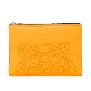 ケンゾー(KENZO)のKENZO タイガー クラッチ ケンゾー  刺繍 イエロー(セカンドバッグ/クラッチバッグ)
