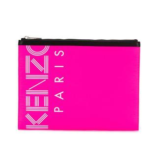 ケンゾー(KENZO)のKENZO クラッチ ケンゾー  ロゴ ピンク(セカンドバッグ/クラッチバッグ)