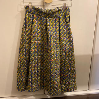 アングローバルショップ(ANGLOBAL SHOP)のミックスツイードフレアスカート(ひざ丈スカート)