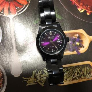 スイスミリタリー(SWISS MILITARY)のスイスミリタリー パープル レディース (腕時計)