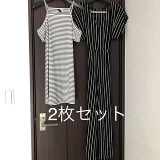 ベルシュカ(Bershka)のH&M、Bershka、Forever21、韓国、海外、2枚、ストライプ(ミニワンピース)