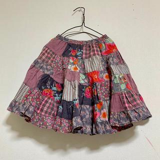 オイリリー(OILILY)のルームセブン オイリリー フリフリ パッチワーク スカート(スカート)