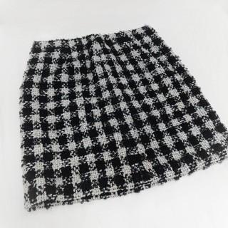 グレースコンチネンタル(GRACE CONTINENTAL)の★アンドクチュール★ ツイード スカート size 38(ミニスカート)