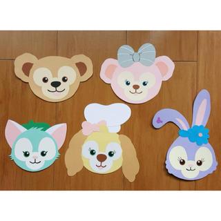 ディズニー(Disney)のダッフィー フレンズ風☆ディズニー☆壁面飾り☆(型紙/パターン)