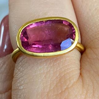 大粒ピンクトルマリン k22ゴールドリング検索マリーエレーヌ ジェムパレス(リング(指輪))