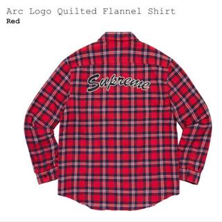 シュプリーム(Supreme)のSupreme Arc Logo Quilted Flannel Shirt 赤(シャツ)