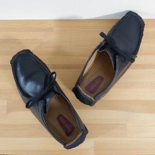 クラークス(Clarks)のclarks / natalie / black lea / 24.5cm(ブーツ)