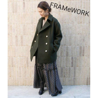 フレームワーク(FRAMeWORK)のFRAMeWORK フレームワーク Pコート カーキ(ピーコート)
